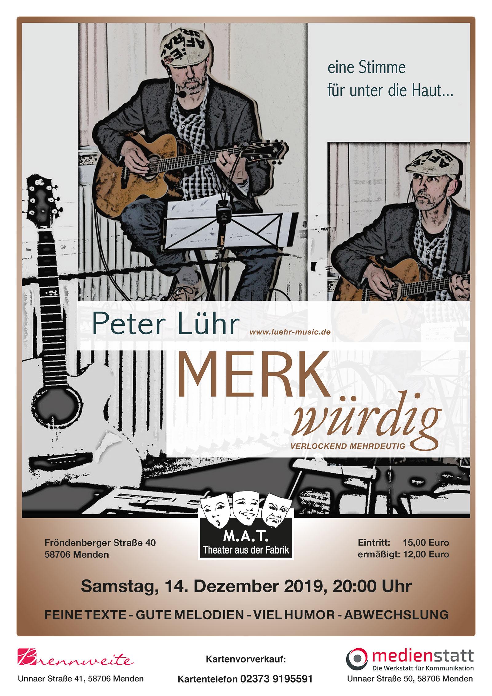 "Peter Lühr präsentiert ""MERKwürdig"""