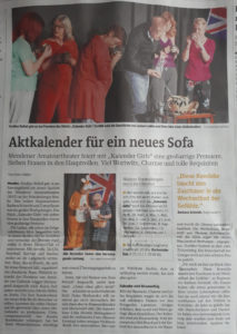 """Westfalenpost vom 24.04.2018, Bericht Premiere """"Kalender Girls"""""""